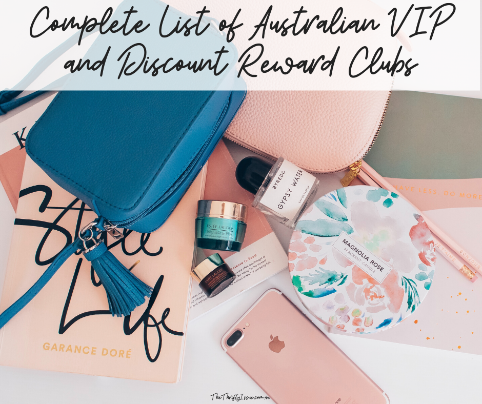 Complete List of Australian VIP and Discount Reward Clubs