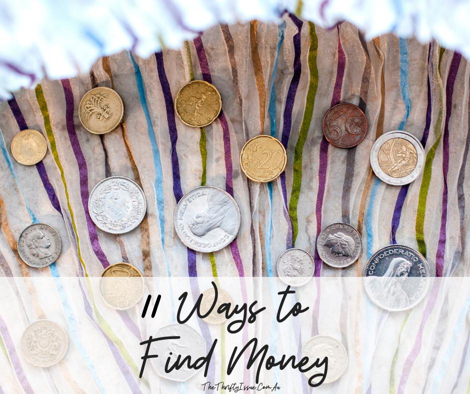 11 Ways to Find Money