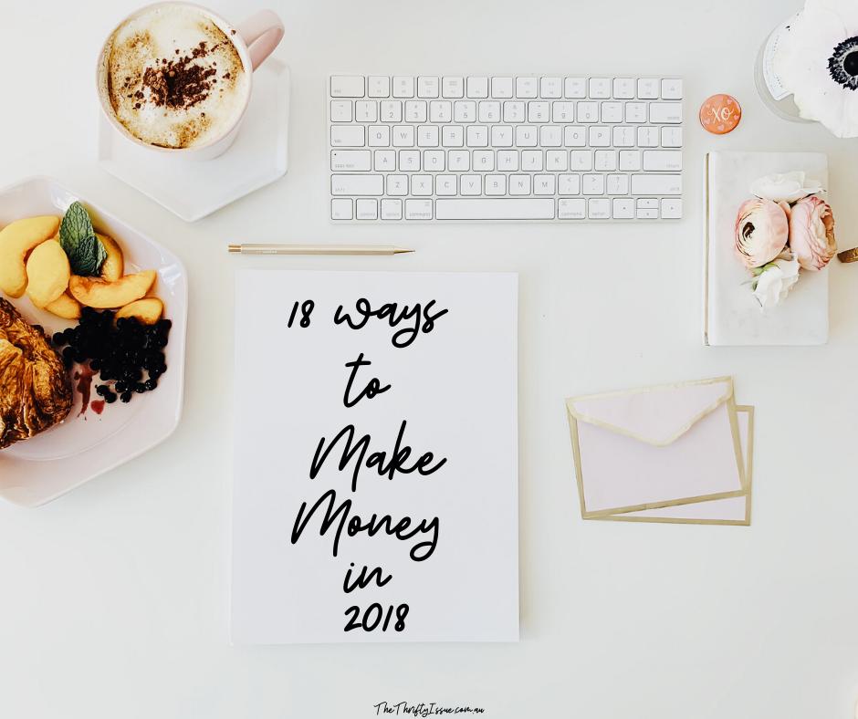 18 ways to make money in 2018